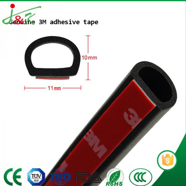 D Type Sealing Strip of EPDM Rubber for Door and Window