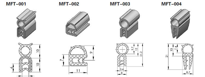 EPDM/Silicone/Sponge Rubber Viton Seal/Cord for Auto Parts