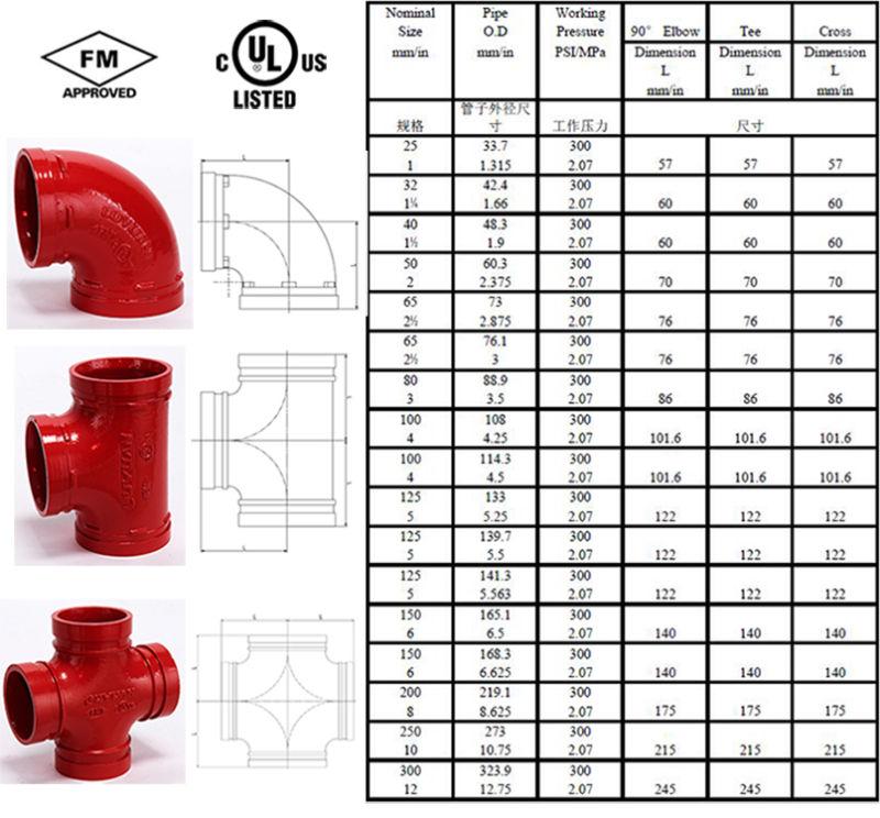 High Quality Ductile Iron Mechanical Tee Threaded (FM/UL)