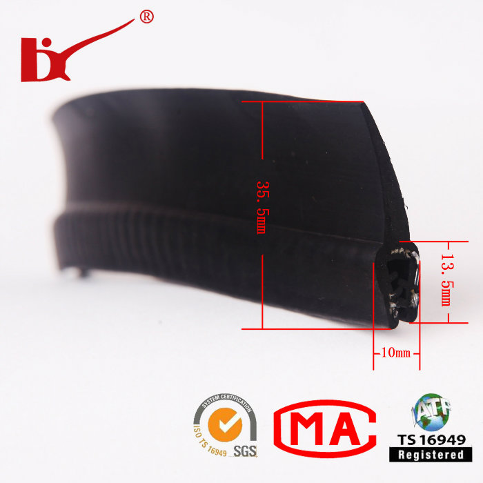 Car Accessory EPDM Extruded Rubber Strip