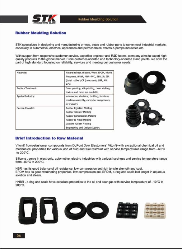 Molded Rubber Parts (STK-RU-1043)