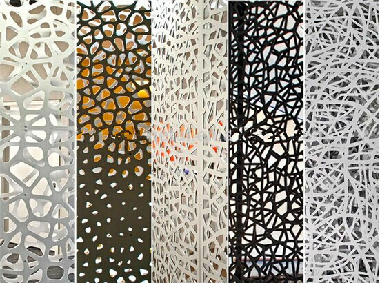 metal aluminium perforated laser cut decorative panel with l