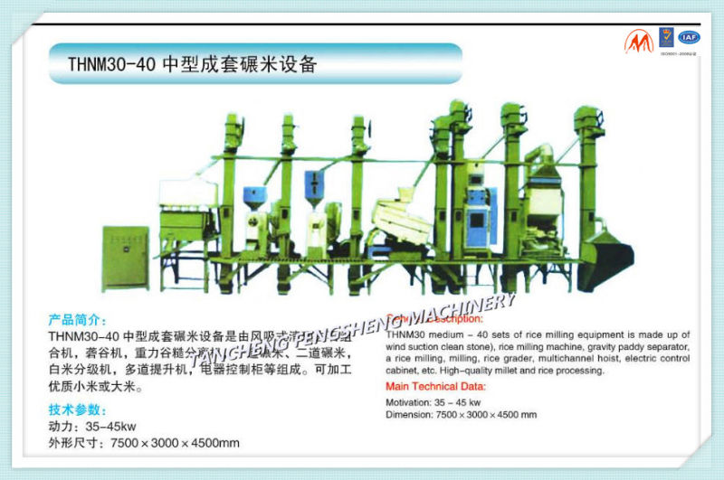18-300tpd Rice Milling Machinery, Rice Processing Complete Plant