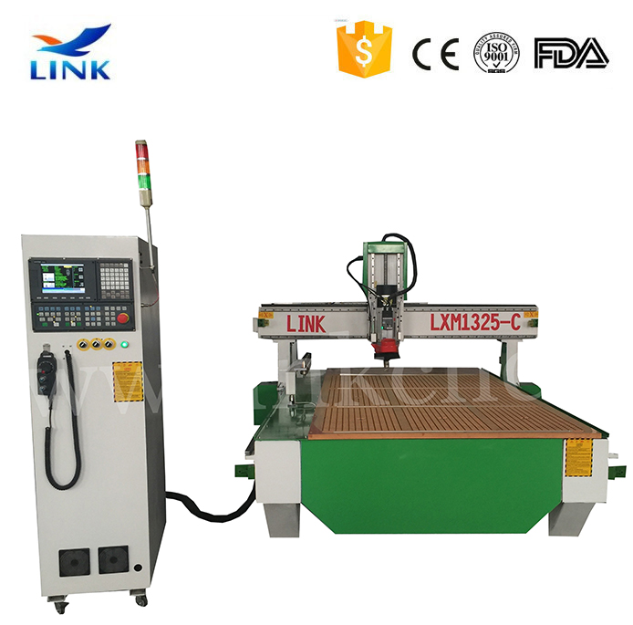 Good price 1325 cnc wood engraving cutting machine with automatic tools changing/auto tool change in mach3 cnc