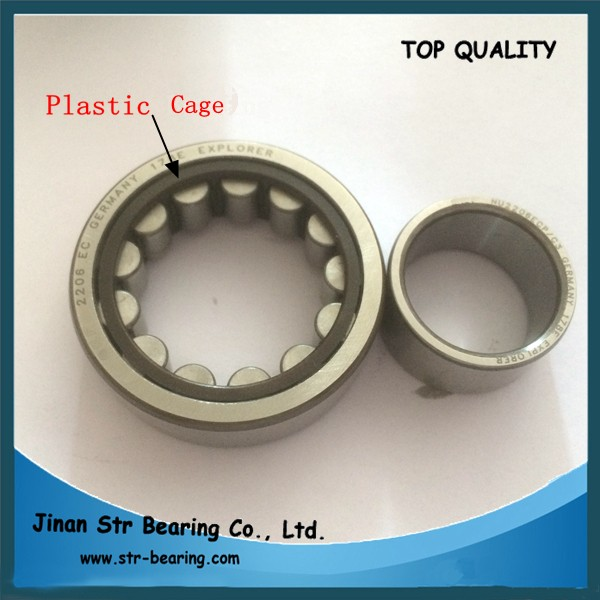 NU series plastic cage Cylindrical Roller Bearing NU2206E NU2206